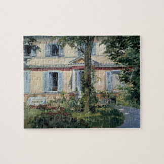 Vintage Impressionism, House at Rueil by Manet Jigsaw Puzzle