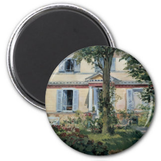 Vintage Impressionism, House at Rueil by Manet Magnet