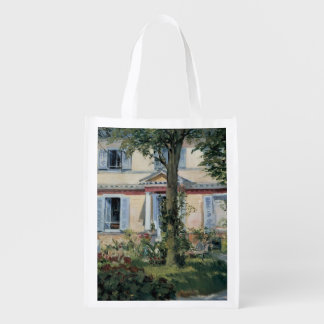 Vintage Impressionism, House at Rueil by Manet Market Totes