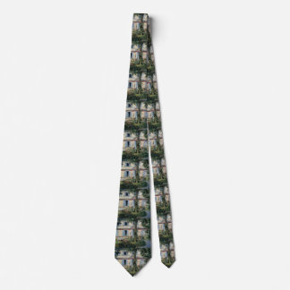 Vintage Impressionism, House at Rueil by Manet Neck Tie