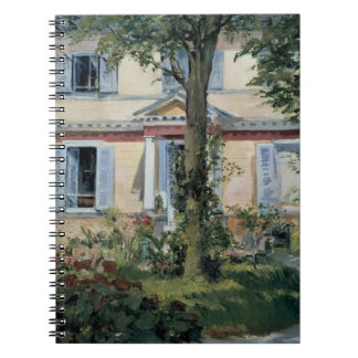 Vintage Impressionism, House at Rueil by Manet Spiral Notebook