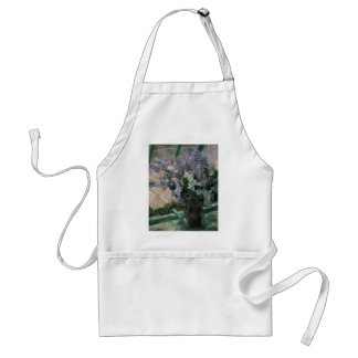 Vintage Impressionism, Lilacs in Window by Cassatt Adult Apron