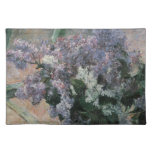 Vintage Impressionism, Lilacs in Window by Cassatt Cloth Place Mat