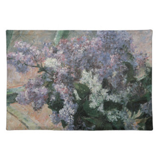 Vintage Impressionism, Lilacs in Window by Cassatt Cloth Placemat
