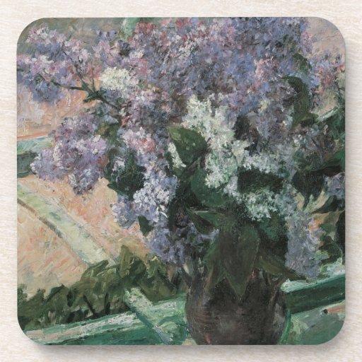 Vintage Impressionism, Lilacs in Window by Cassatt Coaster