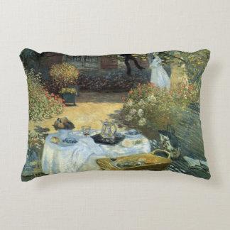 Vintage Impressionism, Luncheon by Claude Monet Accent Pillow