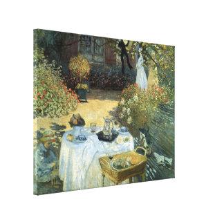 Vintage Impressionism, Luncheon by Claude Monet Canvas Print