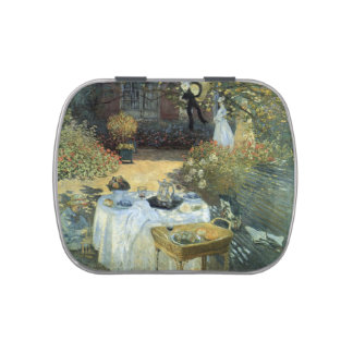 Vintage Impressionism, Luncheon by Claude Monet Jelly Belly Candy Tin