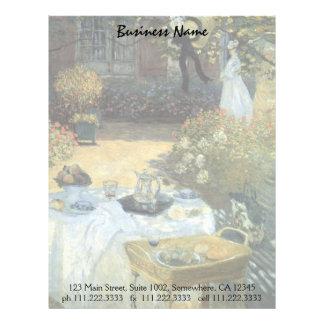 Vintage Impressionism, Luncheon by Claude Monet Letterhead
