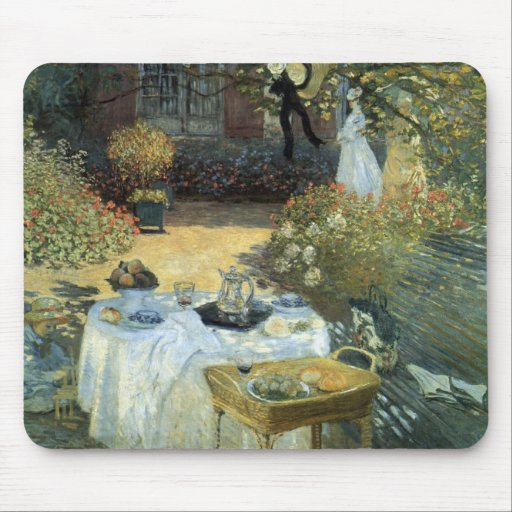 Vintage Impressionism, Luncheon by Claude Monet Mouse Pad