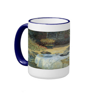 Vintage Impressionism, Luncheon by Claude Monet Ringer Coffee Mug