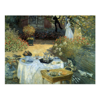Vintage Impressionism, Luncheon by Claude Monet Postcard