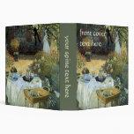 Vintage Impressionism, Luncheon by Claude Monet Vinyl Binders