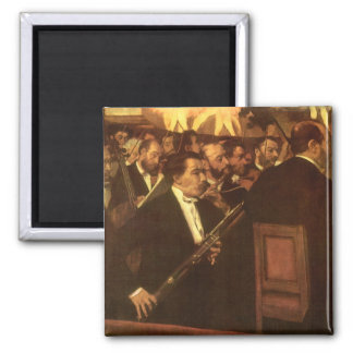 Vintage Impressionism, Orchestra of Opera by Degas 2 Inch Square Magnet