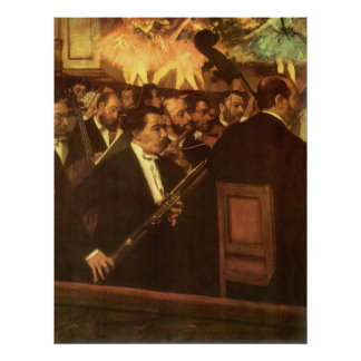 Vintage Impressionism, Orchestra of Opera by Degas Poster