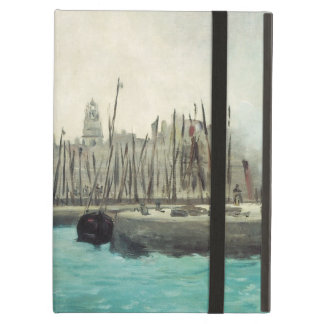 Vintage Impressionism, Port at Calais by Manet Cover For iPad Air
