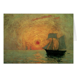 Vintage Impressionism, Red Sun by Maxime Maufra Card