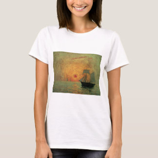 Vintage Impressionism, Red Sun by Maxime Maufra T-Shirt