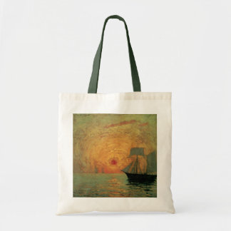 Vintage Impressionism, Red Sun by Maxime Maufra Tote Bag