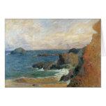 Vintage Impressionism, Rocky Coast by Gauguin Greeting Card