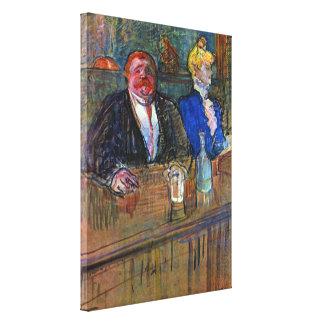Vintage Impressionism, The Bar by Toulouse Lautrec Canvas Print