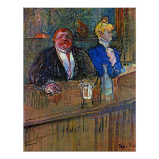Vintage Impressionism, The Bar by Toulouse Lautrec Poster