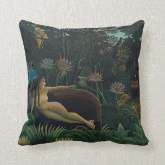 Vintage Impressionism, The Dream by Henri Rousseau Pillow