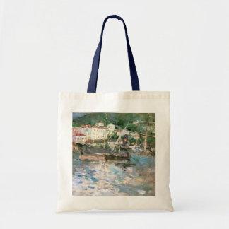 Vintage Impressionism, The Port, Nice by Morisot Budget Tote Bag