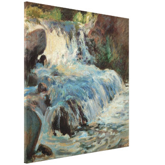Vintage Impressionism, The Waterfall by Twachtman Canvas Print