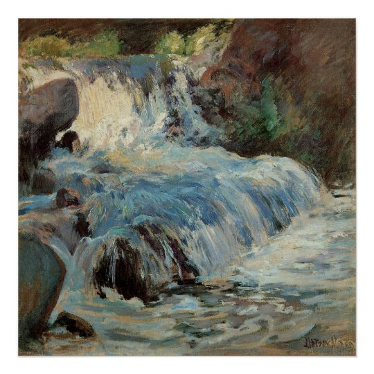 Vintage Impressionism, The Waterfall by Twachtman Poster