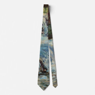 Vintage Impressionism, The Waterfall by Twachtman Tie