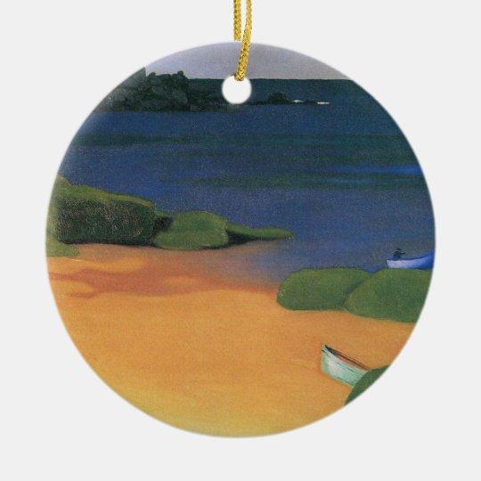 Vintage Impressionism, Tregastel Bay by Vallotton Ceramic Ornament