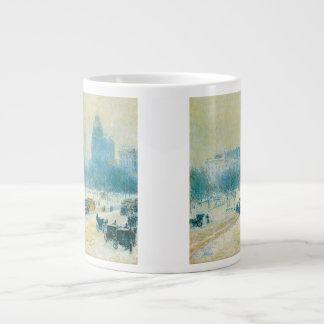 Vintage Impressionism, Union Square by Hassam 20 Oz Large Ceramic Coffee Mug