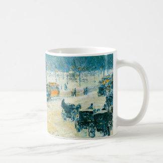 Vintage Impressionism, Union Square by Hassam Classic White Coffee Mug