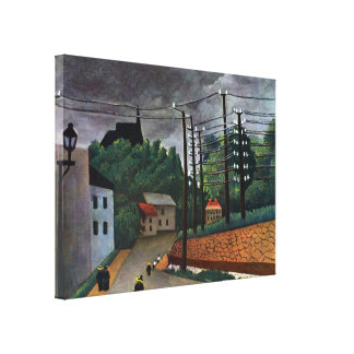 Vintage Impressionism View of Malakoff by Rousseau Canvas Print