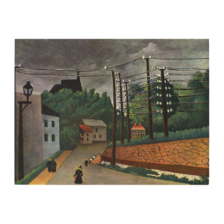 Vintage Impressionism View of Malakoff by Rousseau Wood Wall Art