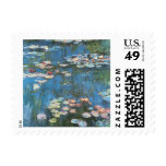 Vintage Impressionism, Waterlilies by Claude Monet Postage Stamps