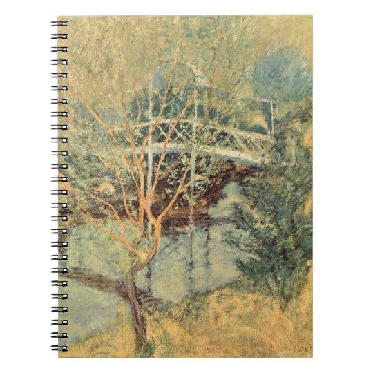 Vintage Impressionism, White Bridge by Twachtman Notebook