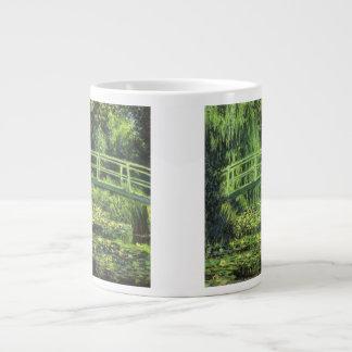 Vintage Impressionism, White Waterlilies by Monet 20 Oz Large Ceramic Coffee Mug
