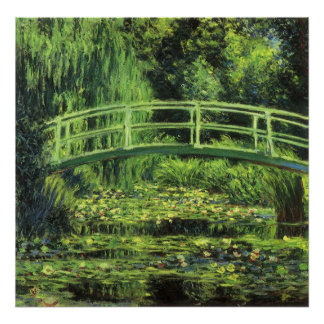 Vintage Impressionism, White Waterlilies by Monet Poster