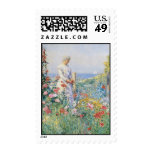 Vintage In The Garden Postage Stamps