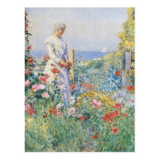 Vintage In The Garden Postcard