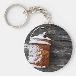Vintage in the Snow Keychain