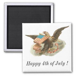 Vintage Independence Day Eagle Design Magnet