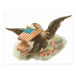 Vintage Independence Day Eagle Design Postcard