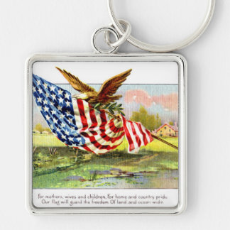 Vintage Independence Day Keychain