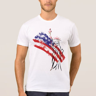 Vintage Independence Day Liberty Statue T-Shirt