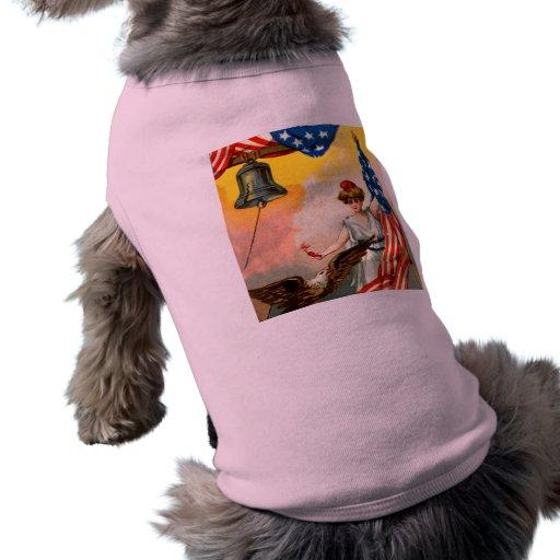 Vintage Independence Day Pet Tshirt
