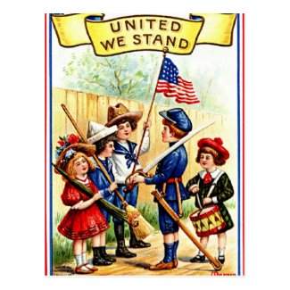 Vintage Independence Day Post Card