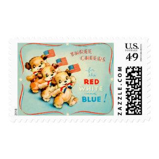 Vintage Independence Day Postage